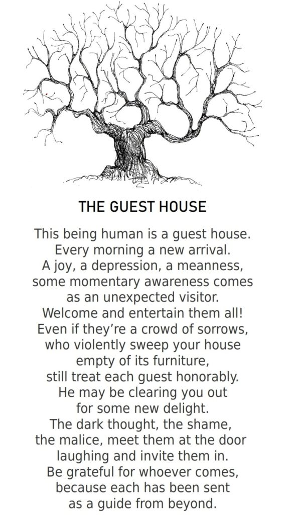 The guest house poem by rumi